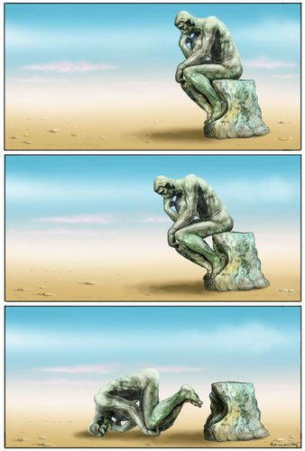 Cartoon: The Thinker (medium) by marian kamensky tagged humor,illustration,denken,mann