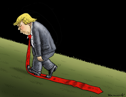 Cartoon: TRUMP AUF DEM WEG NACH OBEN (medium) by marian kamensky tagged obama,trump,präsidentenwahlen,usa,baba,vanga,republikaner,demokraten,faschismus,obama,trump,präsidentenwahlen,usa,baba,vanga,republikaner,demokraten,faschismus