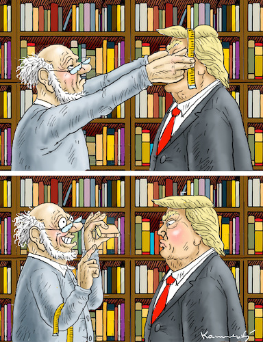 Cartoon: TRUMP IN THE BOOKSTORE (medium) by marian kamensky tagged obama,trump,präsidentenwahlen,usa,baba,vanga,republikaner,inauguration,demokraten,fbi,james,comey,wikileaks,faschismus,obama,trump,präsidentenwahlen,usa,baba,vanga,republikaner,inauguration,demokraten,fbi,james,comey,wikileaks,faschismus