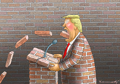 Cartoon: TRUMPS REDE ZUR LAGE DER NATION (medium) by marian kamensky tagged venezuela,maduro,trump,putin,revolution,oil,industry,socialism,venezuela,maduro,trump,putin,revolution,oil,industry,socialism