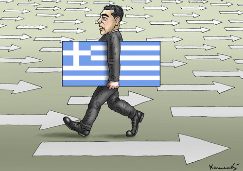 tsipras geht nach hause by marian kamensky politics. Black Bedroom Furniture Sets. Home Design Ideas