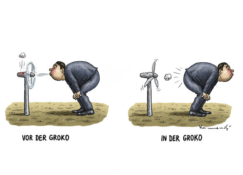 zu viel grokoli gegessen by marian kamensky politics cartoon toonpool