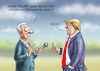 Cartoon: Alternative Fakten (small) by marian kamensky tagged obama,trump,präsidentenwahlen,usa,baba,vanga,republikaner,inauguration,demokraten,alternative,fakten,wikileaks,faschismus