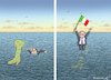 Cartoon: BERLUSCONI RETTET ITALIEN (small) by marian kamensky tagged berlusconi,forza,italia,populismus,nationalismus