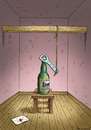 Cartoon: Bierabschied (small) by marian kamensky tagged bier,abschied,herbstdepression,schwermut