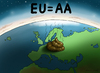 Cartoon: EU AA (small) by marian kamensky tagged rating,agentur,standard,and,poor,eu,aa,finanzkrise,wirtschaftskrise