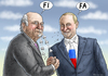 Cartoon: FIFANER BLATTER PUTIN (small) by marian kamensky tagged fbi,und,blatter,fifa,fussbal,korruption,putin,rücktritt