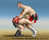 Cartoon: Glitschko Blowetkin (small) by marian kamensky tagged vladimir,klitschko,powetkin,boxkampf,machtkampf,in,moskau,boxen,schwergewicht,weltmeisterschaft,champion