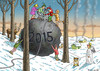 Cartoon: HAPPY NEW YEAR 2015 (small) by marian kamensky tagged happy,new,year,2015