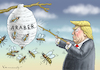 Cartoon: HORNISSENEXPERTE TRUMP (small) by marian kamensky tagged obama,trump,präsidentenwahlen,usa,baba,vanga,republikaner,inauguration,demokraten,fbi,james,comey,katar,wikileaks,faschismus