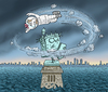 Cartoon: Hurrikan Sandy (small) by marian kamensky tagged hurrikan,sandy,usa,wirbelsturm,new,york