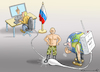 Cartoon: INTERNETSTOPP IN RUSSLAND (small) by marian kamensky tagged selenskyj,ukraine,rüstungsgeld,trump,wahllampfhilfe,joe,biden,amtsenthebungsverfahren,internetstopp,in,russland