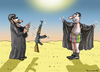 Cartoon: KAMPFEINSATZ (small) by marian kamensky tagged charlie,hebdo,terroranschlag,paris,karikatur,is