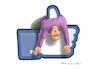Cartoon: LIKE IT (small) by marian kamensky tagged facebook,twitter,sociale,netzwerke,lügen,heuchelei