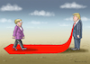 Cartoon: Merkel willkommen beim Trump (small) by marian kamensky tagged obama,trump,präsidentenwahlen,usa,baba,vanga,republikaner,inauguration,demokraten,wikileaks,faschismus