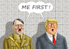 Cartoon: NAZI NARCISSISM FIRST (small) by marian kamensky tagged obama,trump,präsidentenwahlen,usa,baba,vanga,republikaner,inauguration,demokraten,wikileaks,faschismus