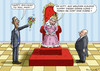 Cartoon: OBAMA BEI DER QUEEN (small) by marian kamensky tagged obama,bei,der,queen