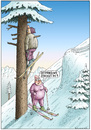 Cartoon: Ottfried und Isolde (small) by marian kamensky tagged skifahren,wintersport,ottfried,fischer