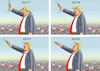 Cartoon: PROGRESSIVE TRUMP (small) by marian kamensky tagged brexit,theresa,may,england,eu,schottland,weicher,wahlen,boris,johnson,nigel,farage,ostern,seidenstrasse,xi,jinping,referendum,trump,monsanto,bayer,glyphosa,strafzölle