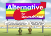 Cartoon: SCHWULE ALTERNATIVE (small) by marian kamensky tagged alternative,für,deutschland,rechtspopulismus,afd,uli,hoeness,henkel,bernd,lucke
