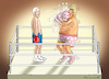 Cartoon: SLEEPY JOE VERSUS BURNING TRUMP (small) by marian kamensky tagged selenskyj,ukraine,rüstungsgeld,trump,wahllampfhilfe,joe,biden,amtsenthebungsverfahren,impeachment,john,bolton