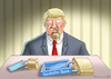 Cartoon: STUMMSCHALTUNG (small) by marian kamensky tagged us,wahlen,joe,biden,trump,corona,kapitol,putsch,bob,woodward,harris,pence