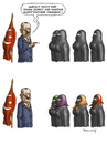 Cartoon: Toleranter Erdogan (small) by marian kamensky tagged erdogan,lachverbot,türkei,islam,frauenrechte
