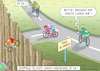 Cartoon: TOUR DE FRANCE IM DIGITALALTER (small) by marian kamensky tagged katastrophenfall,in,bayern,schneechaos,skitourismus,bundeswehr