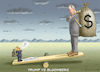 Cartoon: TRUMP VS BLOOMBERG (small) by marian kamensky tagged selenskyj,ukraine,rüstungsgeld,trump,wahllampfhilfe,bloomberg,joe,biden