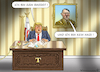 Cartoon: UNSCHULDSLAMM TRUMP (small) by marian kamensky tagged brexit,theresa,may,england,eu,schottland,weicher,wahlen,boris,johnson,nigel,farage,ostern,seidenstrasse,xi,jinping,referendum,trump,monsanto,bayer,glyphosa,strafzölle