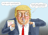 Cartoon: VOLLGESUNDER TROTTEL TRUMP (small) by marian kamensky tagged obama,trump,präsidentenwahlen,usa,baba,vanga,republikaner,inauguration,demokraten,us,steuer,reform,weihnachten,fire,and,fury,steve,bannon,wikileaks,faschismus