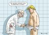 Cartoon: VOLLGESUNDER TRUMP (small) by marian kamensky tagged obama,trump,präsidentenwahlen,usa,baba,vanga,republikaner,demokraten,faschismus