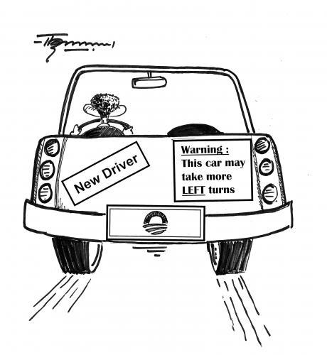Cartoon New Driver Obama