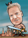 Cartoon: karykatura_9_19 (small) by Krzyskow tagged karykatura,caricature