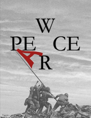 peace and war by dariush ramezani politics cartoon toonpool