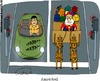Cartoon: Ampelduell (small) by Fredrich tagged weihnachten,christmas,noel,weihnachtsmann,santa,claus,pere,cars,traffic,lights,duel
