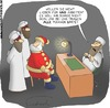 Cartoon: Weinachten bei den Taliban (small) by Fredrich tagged weihnachten,christmas,weihnachtsmann,santa,claus,taliban