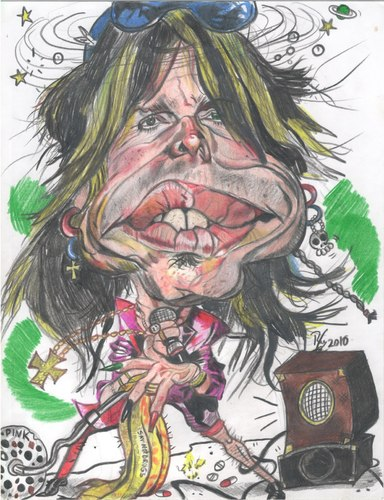 steven tyler caricature. Cartoon: Steven Tyler