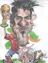 Cartoon: David Villa and Paul (small) by RoyCaricaturas tagged caricaturas famosos