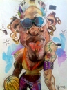 Cartoon: Dennis Rodman earrings. (small) by RoyCaricaturas tagged dennis,rodman,famous,basketball,nba