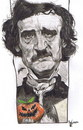 Cartoon: Edgar Allan Poe (small) by RoyCaricaturas tagged allan poe