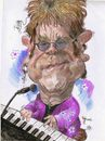 Cartoon: Elthon John (small) by RoyCaricaturas tagged elthon,john,music,famous,singer