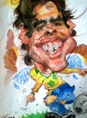 Cartoon: Kaka Brazil (small) by RoyCaricaturas tagged kaka,brazil,soccer,real,madrid