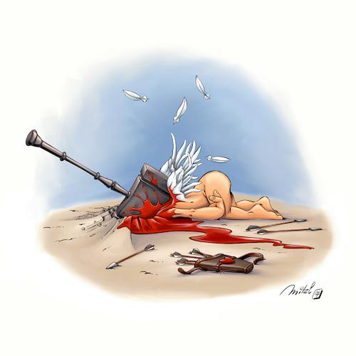 Bye Bye Cupidon By Mikl Love Cartoon Toonpool