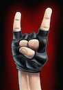 Cartoon: Heavy Metal (small) by Mikl tagged mikl michael olivier miklart art illustration painting devil sign heavy metal