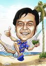 Cartoon: caricature beach (small) by juwecurfew tagged caricature,beach