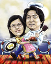 Cartoon: chef couple (small) by juwecurfew tagged chef,couple