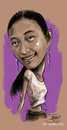 Cartoon: speed art caricature (small) by juwecurfew tagged manilyn,caricature
