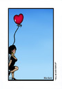 Cartoon: Will he ever turn up. (small) by Mike J Baird tagged girl,balloon,waiting,sad,lonely,heart