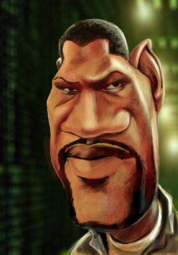 Caricature Of Laurence Fishburne